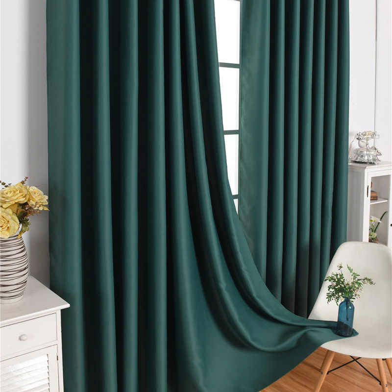 Blackout Curtain Window Treatment Thermal Insulated Solid Grommet Drapes for Living Room Home LXY9