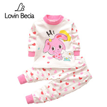 Lovinbecia autumn Winter Suit Baby girls Clothes Set Cotton Long Sleeve casual Kids Suits clothing sets Children's pajamas suit