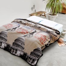 High Quality Flannel Blanket Brand Adult Winter Autumn Thick Warm Check Super Soft Coral Fleece Blankets On The Bed(China)