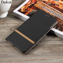 Dulcii coque funda for LG K 8 Leather Bag Cover Cross Texture PU Leather Card Slot Cover Bag for LG K8 Case Built-in Steel Sheet