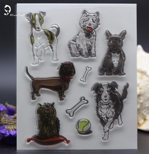 CLEAR STAMPS dog DIY Scrapbook Card album paper craft  silicon rubber roller transparent stamp bird 18x15CM