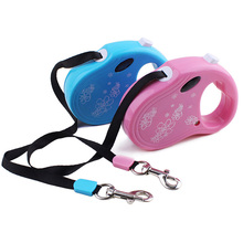 3M Retractable Dog Traction Rope Pet Dog/Cat Puppy Traction Rope Walking Leash Lead Perfect for  small and medium pets Blue/Pink