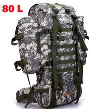 80L Men Military Backpack Large Capacity Women Mountaineering Backpack Waterproof Trekking Camouflage Big Travel Backpacks Bag