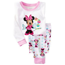 Hot sale Children boys girls kids Clothing Sets Cartoon suits 2 pcs Sleepwear Long Sleeve Cartoon Pajamas