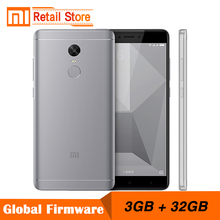 "Original Xiaomi Redmi Note 4X Note4 X Snapdragon 625 Octa Core Mobile Phone 3GB RAM 32GB ROM  13.0MP 5.5"" FHD Fingerprint ID"