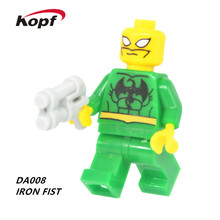Single Sale Super Heroes Star Wars Iron Fist Power Vacation Batman Manager Building Blocks Toys children DA008 - Minifigures store