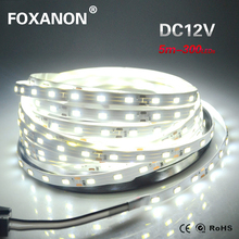 5M / Roll 300 LED Strip light String Ribbon 5630 SMD lamp Tape More Bright Than 2835 3528 5050 White / Warm white For Decorative