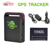 TK102B MiNi Car Popular portable GPS Tracker Quan-band TK102 Vehicle GPS GSM GPRS RealTime SMS Location Tracking Device(China)