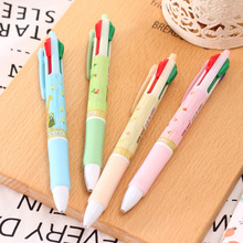 40 pcs/lot pet 4-color function ballpoint pen students creative forest South Korea lovely color ball pen(China)