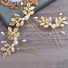 Bride Diaries 3 pieces/lot new bridal wedding hair accessories party prom hair jewelry for women handmade pearl hair sticks