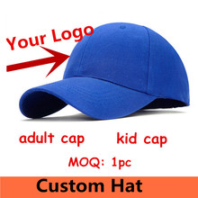Zefit Customized Adult Baseball Hats LOGO Embroidery snap back cap Custom Logo Design kid hats wholesale fitted hats