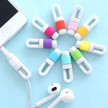 Best Seller Phone Accessory Silicone Digital Cable Protector Cord Protecotor Protective cover for Iphone 4/5/6 Headphone Cord(China)