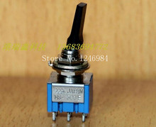 [SA]Dual six foot two tranches M6.35 black flat handle small toggle switch Japan three mountain overstock MS500-F { }--20pcs/lot(China)