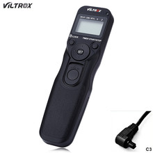 Hot Viltrox MC C3 Wired Digital Time Shutter Release Remote Controller for Canon EOS 1Ds Mark II 1D 5D 7D 50D 40D D60 D30 D5000