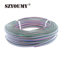 SZYOUMY 4 pin RGB Led Connector 4 Wire electric Extension Cable Cord Lighting for rgb 3528 and 5050 led strip free shipping