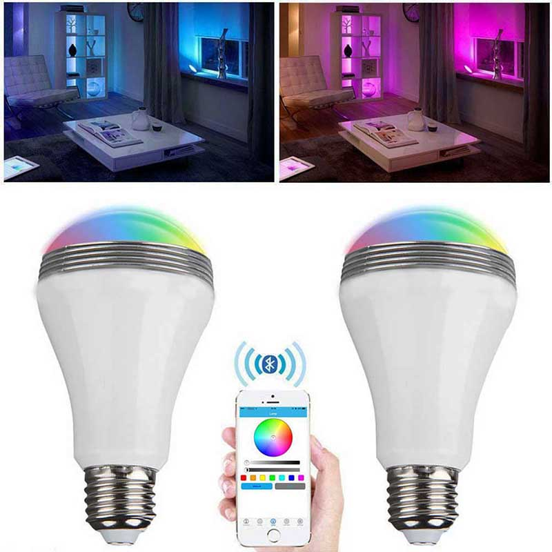 10pcs/lot New Arrival SMD RGB bluetooth 4.0 Christmas party lamp bulb Audio Speaker E27 Base APP Control Lighting system<br><br>Aliexpress