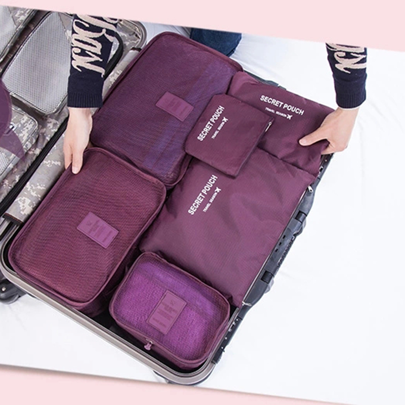 6pcs/set New 2016 Storage Bags Brand Travelling Suitcase Storage Bags Sets High Quality Polymer Clothes&shoes Organizer(China (Mainland))