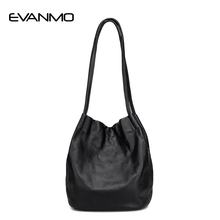 High Quality Women Everyday Handbags Real Leather Female Shoulder Bags Design Large Capacity Hobo Bag Shopping Casual Handbag(China)