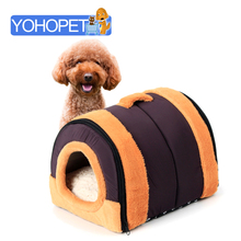 Hot Sale Dog Beds For Small/medium/large Dogs Pet Cat Dual Purpose Dome Detachable Tunnel Dog House Dog Kennels Cages/blanket