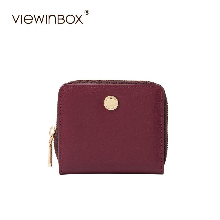 Viewinbox Vintage Coin Purse Zipper Women Wallets Small Purse Solid Mini Card Holder Carteira <br>