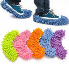 2Pcs Multifunction Dust Floor Cleaning Mop Slipper Shoes Cover Cleaner Kitchen House Lazy Drag