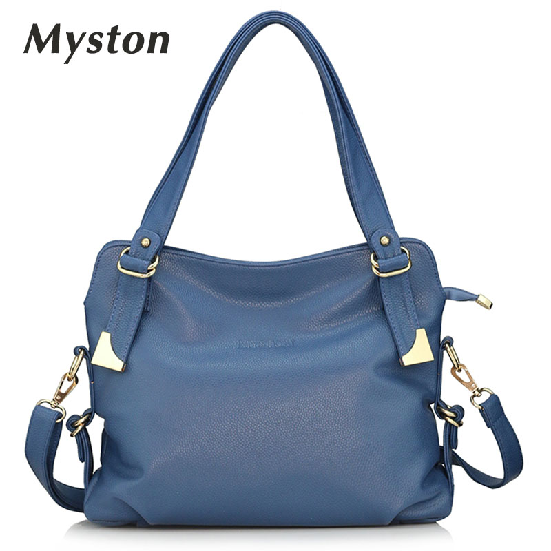MYSTON brand Genuine leather women bag large tote shoulder crossbody bags bolsas feminina purses and handbags Messenger Bags<br>