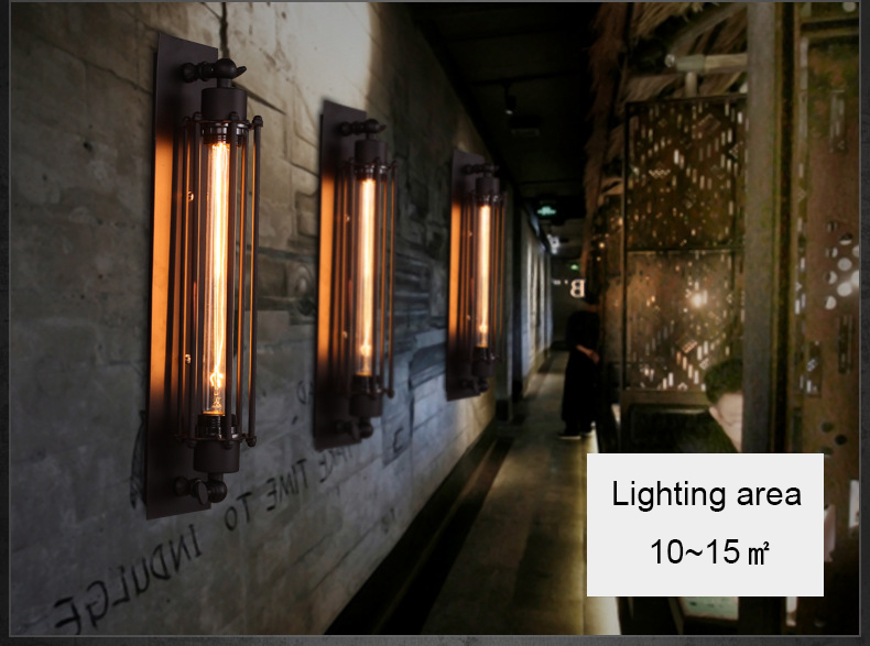 Led Lamp Badkamer : Vintage led wall lamp industrial wall lights for home iron