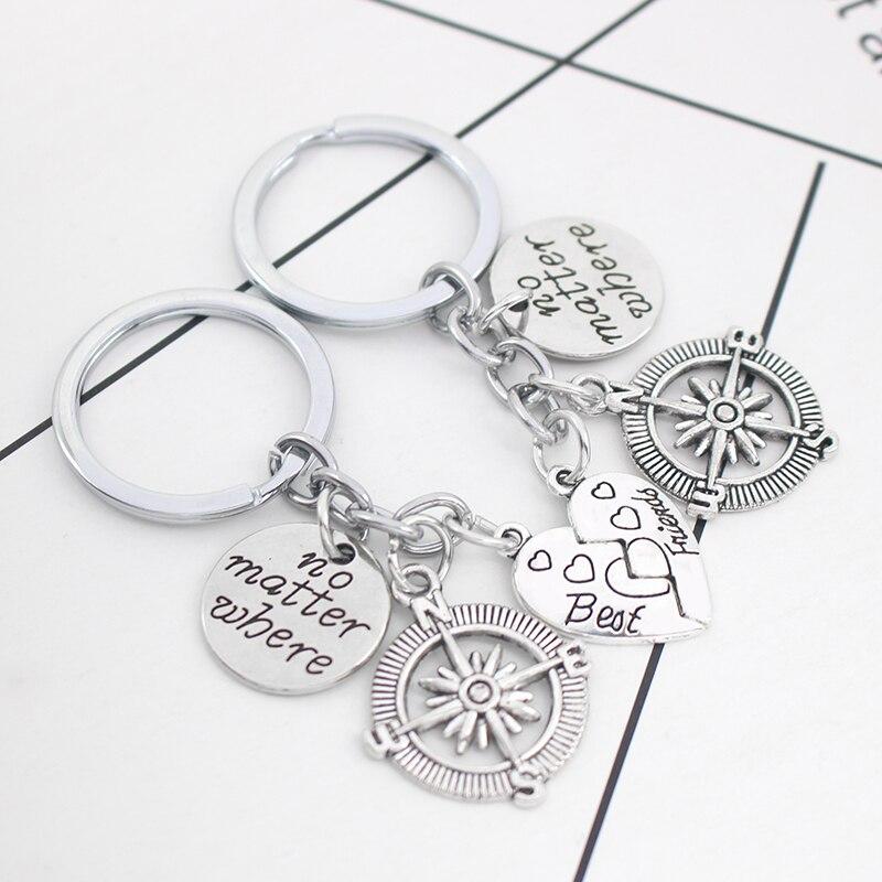 2pcs-set-Best-Friends-Key-Chain-Vintage-No-Matter-Where-Compass-Pendant-Keychain-BFF-Long-Distance (4)