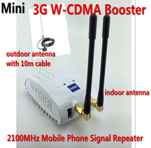 Mini 3G Repeater WCDMA UMTS 3G 2100MHz Cell Phone Signal Booster , 3G Mobile Phone Signal Repeater Amplifier + 3G Antenna