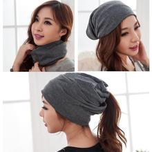 New Spring & Autumn Fashion Womens Beanie Hat for Women 3 Way to Wear Bonnet Lady Girl Multifunctional Beanies