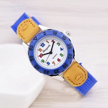 Reloj Mujer Montre Femme High Quality Blue Boy Black quarzt Watch Girl Kids Children's Gift Fabric Strap Student Wristwatch