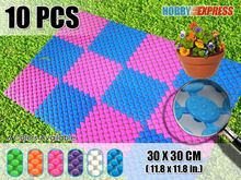 New 10 pcs Indoor / Outdoor Circle Pattern Plastic Floor Tile 30 x 30 cm Home Decor KK1129 6 Colors