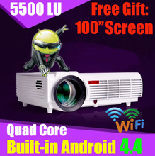 5500 lumens smart tv Android lcd led projector full hd accessories 3d home theater projetor video wifi 1080p proyector beamer