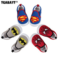 TGABAYT superhero Kids casual canvas sneakers baby first walkers Boys Girls Casual Shoes superman batman spiderman Shoes