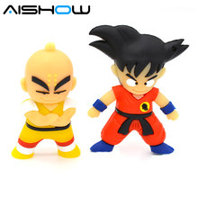 Real Capacity Kung fu Wukong USB Flash Drive Pen Drive 4GB 8GB 16GB 32GB 64GB Dragon Ball Pendrive U disk USB 2.0 Memory Stick(China)
