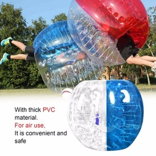 Popular Human Knocker 0.8mm Thickness Inflatable Bubble Buffer Balls Bumper Soccer Zorb Ball For Adult Outdoor Activity Running(China)