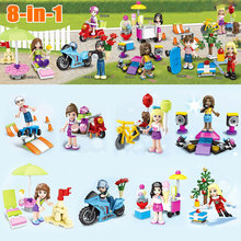 Bevle SY628 8Pcs/lot Monster School Girl Friends Mini dolls Building Block Bricks Toys Compatible with Legoe Friends