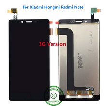 "100% Tested Work Black LCD Display Touch Screen Digitizer Assembly For Xiaomi Hongmi Redmi Note 5.5"" 3G Replacement"