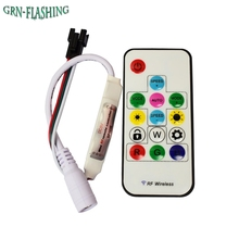 SP103E 14Keys Mini-RF Wireless Led RGB Remote Controller 300kinds of change 2048 Pixels for WS2811 WS2812 WS2812B DC 5V(China)