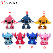 VBNM Genuine new cartoon blue stitch model usb flash drive usb 2.0 memory stick pendriver thumb stick gift Lovely mini(China)