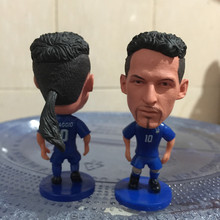 Soccerwe 2017 Season 2.55 Inches Height Football Player Dolls Italy Number 10 Baggio Figure Blue for Hot Sales(China)