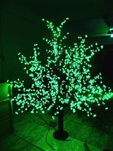 Christmas New year LED Cherry Blossom Tree 1024pcs LED Green Bulbs 1.8m/6ft Height 110/220VAC Rainproof Outdoor Usage