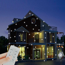 Star snow Remote Control Waterproof led White Snowflakes Christmas Light Outdoor star projector, Landscape garden lamp