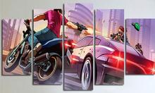 5 Piece Frameless Wall Picture For Room Canvas Painting Gta 5 Poster Anime Prints Christmas Pictures Decoration Wall Art Picture