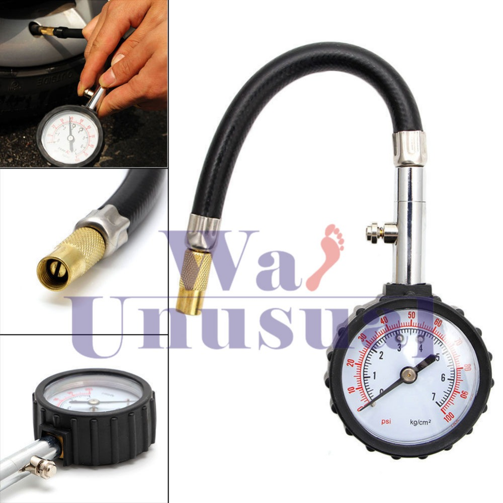 Car Motorcycle Dial Tyre Measure Truck Racing Tire Air Meter Pressure Gauge 5