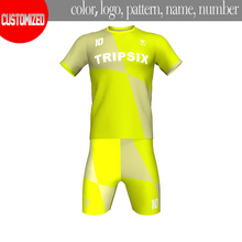 Thailand quality soccer shirt,soccer wear kits,yellow european team soccer jersey(China)