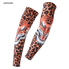 XINTOWN Brown Arm Warmers Men Cuff MTB Cycling Car Moto UV Sun Protection Sportswear bike bicycle Oversleeve Sleeves Quick dry(China)