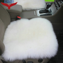 1 PCS New Car Seat Cover 100% Woolen Sheep Fur Plush Can Change Car Wear Seat Cover Black\Purple\White\Red\Pink