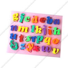 1pcs 26 Lowercase Alphabet/Capital Letter/26 Letter/German Letter+Arabic Numeral Shape Fondant Silicone Pastry Baking Mold Tool(China)