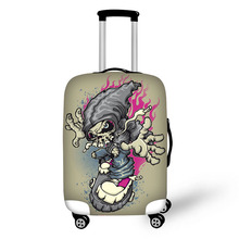 Prevent the impact to prevent scratches Hip-hop style pattern luggage case travel must be soft and durable non-slip